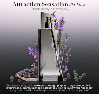 Avon ATTRACTION SENSATION  dla Niego (75 ml) - woda toaletowa