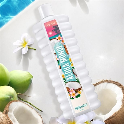 Płyn do kąpieli Kokos i Kwiat Tahiti (1000 ml) - Avon Senses